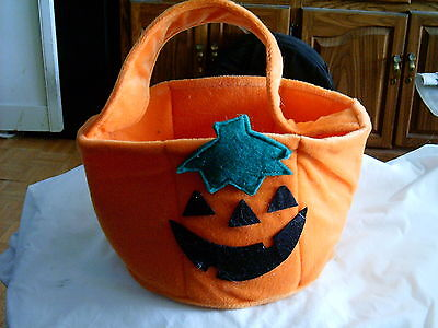 Hallowe'en - Pumpkin Candy Basket - Plush Velour