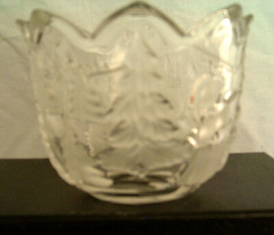 Glass Candle Holder or Candy Bowl - Christmas Design