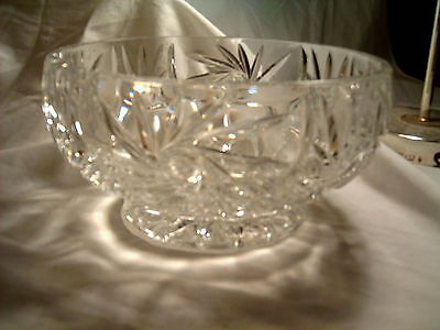 Crystal Swirls and Stripes Serving - Fruit Bowl