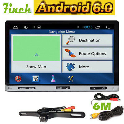 In Dash Double 2Din Android 6.0 Car DVD Stereo Player Radio GPS Navi Wifi OBD2