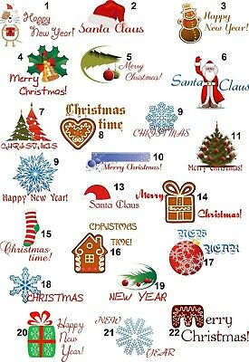 Personalized Return Address Labels Christmas Buy 3 get 1 free (cd9)