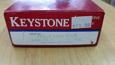 Keystone Locomotive Works HOn3 Log Cars Kit 2 each/box New Narrow gauge