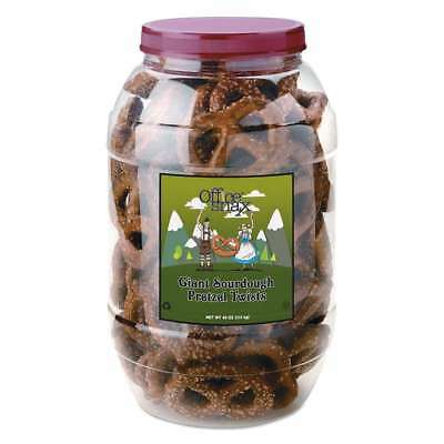 Office Snax® Pretzel Assortment, Giant Dutch Twist Pretzels, Sour 856924000844