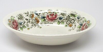 Johnson Brothers Margaret Rose Brown-Multi Oval Vegetable Bowl A - Windsor Ware