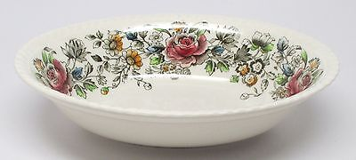 Johnson Brothers Margaret Rose Brown-Multi - Oval Vegetable Bowl B - As Is