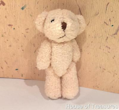 SMALL **FLUFFY CREAM** TEDDY BEAR for DOLLS HOUSE **ABSOLUTELY GORGEOUS!!