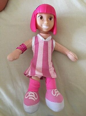 Lazy Town Stephanie Soft Doll Toy Pink Rare