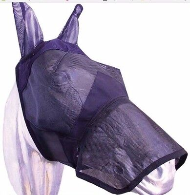 Fly mask, with nose piece and ear protection
