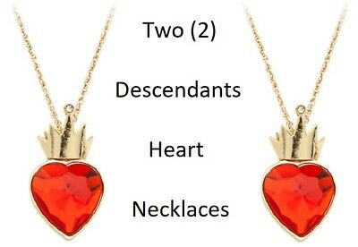 Disney Store Descendants Movie Evie's Red Heart Necklace *YOU GET 2* Evie New