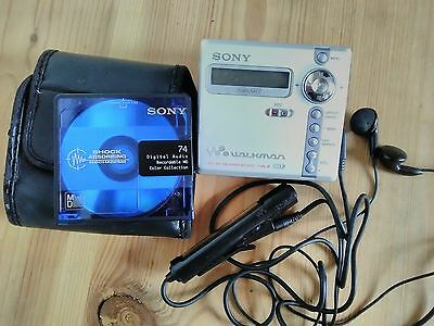 Rare Vintage Sony Net MD MZ-N707 Personal MiniDisc Player & original accessories