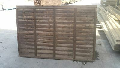 Budget Garden Fence Panels Waney Lap 6ft(w) x 2/3/4/5/6ft(h)
