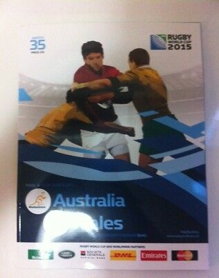 RWC 2015 Match 35 Pool A Australia v Wales Rugby World Cup Match Program