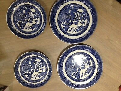 Blue Willow Plates X2plates, X2saucers