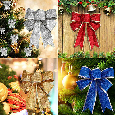 Large Bows Bowknot Christmas Tree Party Gift Present Xmas Ornament Decor 5 Color
