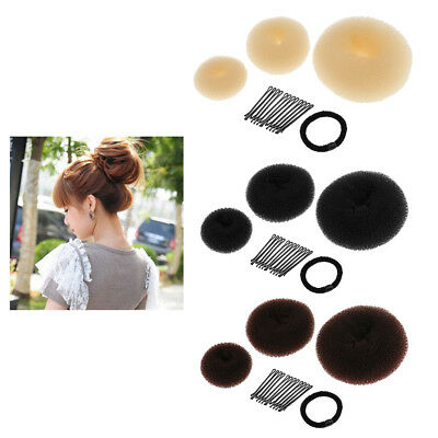 Donut Hair Ring Bun Former Shaper Hair Styler Maker Tools for Women Girls
