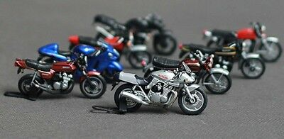 New 8PCS Loose In Packet Assorted 1:43 O Scale Motorbikes
