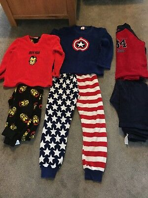3 Pairs of Boys Fleece Long Sleeve, Long Leg Pyjamas PJ's - Primark 9-10 Years