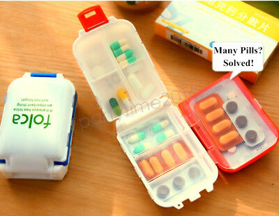 Handy Foldable Pill Box Vitamin Tablet Drug Container Storage Travel Case Holder
