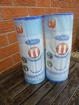 12 Bestway Size II Filter Cartridges #58094 for Pools and Older Lay-z-Spas BNIP