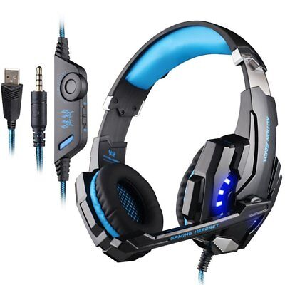 3.5mm Gaming Headset LED Headphones Surround With MIC For PS4 Laptop Xbox One PC