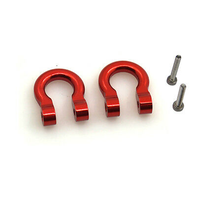 2PCS Alloy 1/10 Scale Hooks Hitch Tow Shackles for RC Crawler Traxxas TRx-4