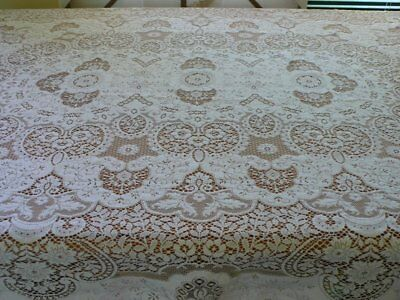 Lovely White Lace Tablecloth 187 X 121Cm