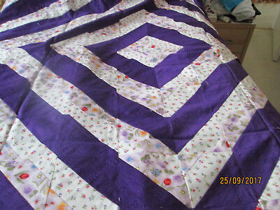 """New Handmade 100% Cotton Quilt Top - Approximately 63""""x63"""""""