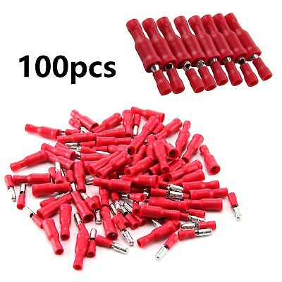 Assorted Insulated Connector Red Bullet Electrical Crimp Terminals x 100 wiring