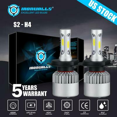 Ironwalls H4 9003 CREE LED Headlight Bulb Kit Hi-Low 1080W 162000LM 6500K White