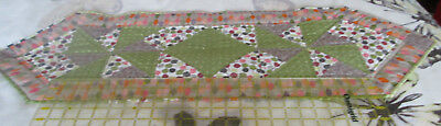 """New Handmade 100% Cotton Quilted Table Runner - 38"""" x 12.5"""""""