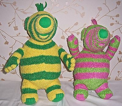 """Fimbo & Baby Pom 2 Fimbles Tv Series Large Soft Toys 14""""/12"""" Approx Both In Vgc"""