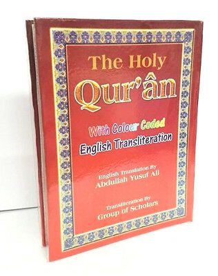 The Holy Quran Arabic/English with Colour Coded Transliteration-Yusuf Ali (HB)