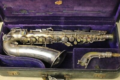 """Conn Artist """"Naked Lady"""" 1935 silver plate alto saxophone. Stunning."""