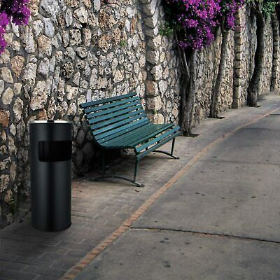 Free Standing Ashtray Stainless Steel Litter Spinning Ash Bin Floor Cigarette