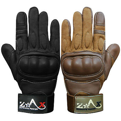 Leather Motorcycle Gloves Motorbike Biker Racing Knuckles Protection S to XXL