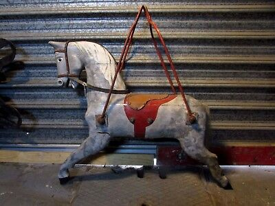 Vintage Wooden Merry Go Round Carousel Horse Carnival Side Show Ride Statue