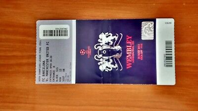 2011 BARCELONA v MANCHESTER UNITED TICKET CHAMPIONS LEAGUE FINAL FCB MUFC