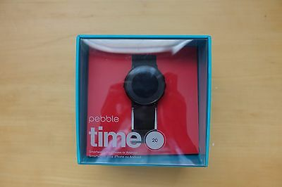 pebble time round Black color lowest price on ebay