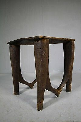 Afrcian Ashanti Antique Carved Table / Stool.
