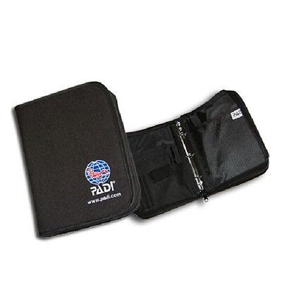 PADI Logbuch Binder- Nylon Fabric Binder - Codura Zipper Schwarz