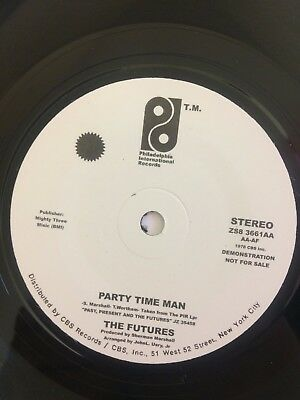 """The Futures – Party Time Man / Party Time Man  7""""single."""