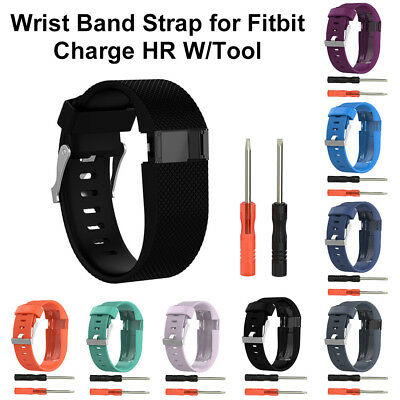 Silicone Replacement Wristband Band Strap Tool Kit for Fitbit Charge HR Large SL
