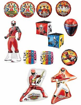 Power Rangers Foil Balloons With Optional Personalisation Party Decoration