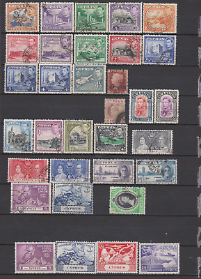 Cyprus Collection 1880's/1953 Used & Mint Mounted to £1