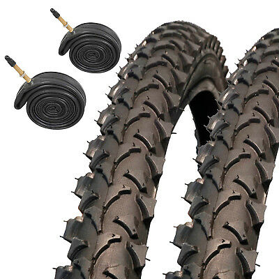 "2x Coyote TY2607 Pro 26 x 1.95"" MTB Mountain Bike Tyres with Presta Inner Tubes"