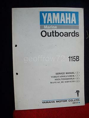 Genuine Yamaha 115B Outboard Service Workshop Manual 1990 (6E5-28197-30-G1)