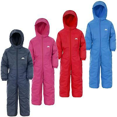 5e1610664 TRESPASS KIDS DRIPDROP Padded All In One Snow Waterproof RainSuit ...