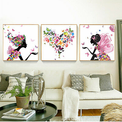 Set of Three Canvas Paint By Number Kit 3*40*50cm S4 F3P030 HOME DECOR AU STOCK