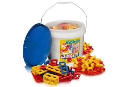 Basic Bucket with Lid - 54 Pieces (Bucket Colour May Vary) - Mobilo