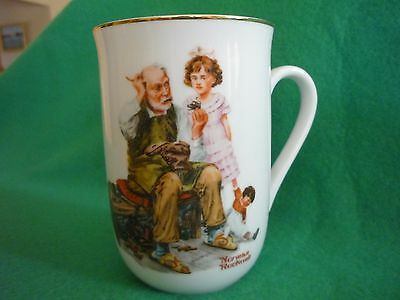 "Norman Rockwell Cup, 1982, ""The Cobbler"""